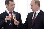 Медведев и Путин встретят Новый год дома