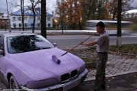 Сиреневый BMW: только на улицах Великого Новгорода.