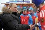 Путин лично опробовал тренировочную бобслейную трассу в Парамоново»