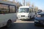 В Барнауле столкнулись 2 автобуса №54