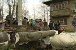 Военный городок Ильинское - несмотря на грязь и руины, жизнь продолжается