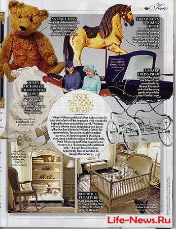 Кейт Миддлтон занялась обустройством комнаты для будущего ребенка
