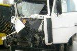 МАЗ врезался в школьный автобус, все могло быть гораздо хуже