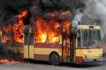 Троллейбус сгорел, жертв нет