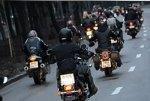 Московские байкеры проводят акцию в память о погибших в ДТП товарищах