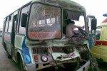 В Петербурге автобус с пассажирами протаранил грузовик