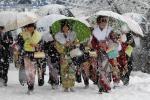 Жертвы снегопада в Японии: число растет