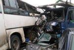 В Удмуртии грузовик столкнулся с микроавтобусом