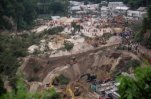 В Гватемале ливни спровоцировали сход огромного оползня