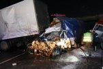 Массовое столкновение фур в Заполярье на трассе «Кола»