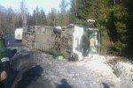 На границе с Финляндией перевернулся туристический автобус, есть жертвы и пострадавшие