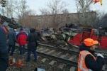 В Москве столкнулись электричка и пассажирский поезд, есть пострадавшие