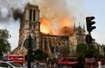 В Париже потушен пожар в соборе Парижской Богоматери